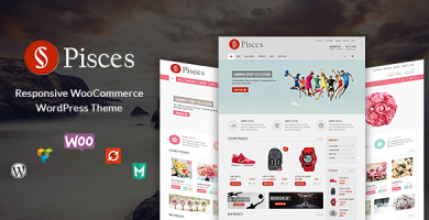 VG Pisces - قالب وردپرس فروشگاهی