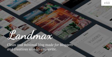 قالب Landmax WP - قالب وردپرس بلاگی مینیمال