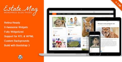 قالب EstateMag - قالب وبلاگ وردپرس ریسپانسیو