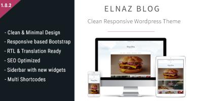 قالب Elnaz Blog - قالب وردپرس ساده و ریسپانسیو