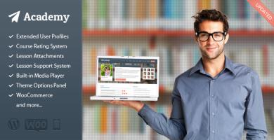 قالب Academy - قالب وردپرس مدیریت یادگیری