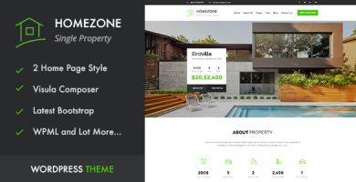 قالب HOME ZONE - قالب وردپرس تک ملکی