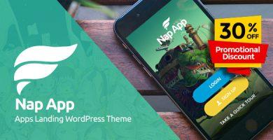 NapApp - صفحه ی فرود اپلیکیشن وردپرس