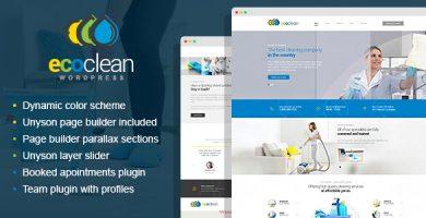 قالب EcoClean - قالب وردپرس شرکتی ساده