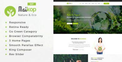 قالب Maikop - قالب وردپرس محیط زیست