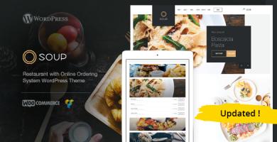 قالب Soup - قالب وردپرس رستوران با سیستم سفارش آنلاین