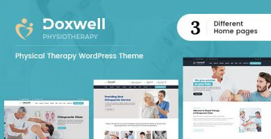 قالب Doxwell - قالب وردپرس فیزیوتراپی