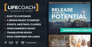 قالب Life Coach WordPress Theme - قالب وردپرس مربی زندگی