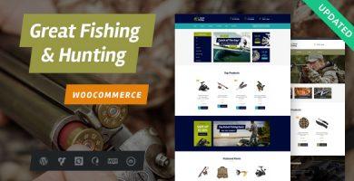 قالب Fishing and Hunting - قالب وردپرس