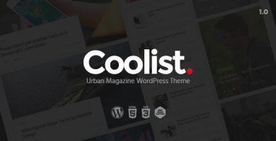 قالب Coolist - قالب وردپرس مجله