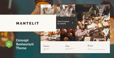 قالب Mantelit - قالب وردپرس رستوران