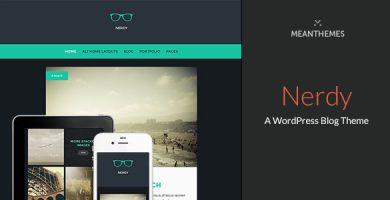 قالب Nerdy - قالب وردپرس وبلاگی