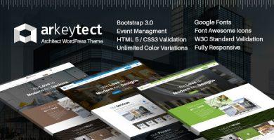 Arkeytect - قالب وردپرس معماری