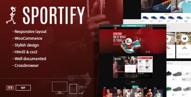 قالب Sportify - قالب وردپرس باشگاه ورزشی