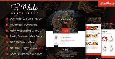 قالب Chili - قالب وردپرس برای سایت رستوران