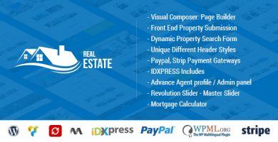 قالب Real Estate WordPress - قالب وردپرس برای سایت املاک