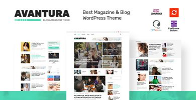 قالب Avantura - قالب وردپرس مجله و وبلاگ