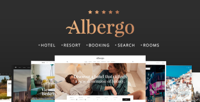 قالب Albergo - قالب سایت رزرو هتل و استراحتگاه