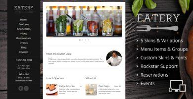 قالب Eatery - قالب وردپرس رستوران