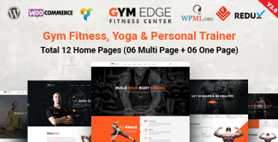 قالب Gym Edge - قالب وردپرس باشگاه تناسب اندام