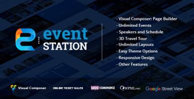 قالب Event Station - قالب وردپرس رویداد و کنفرانس