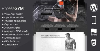 قالب FitnessGYM - قالب وردپرس ورزش و تناسب اندام