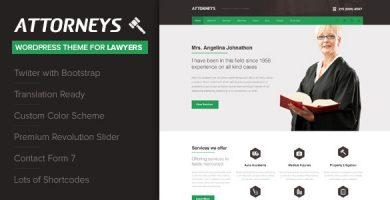 Attorney - قالب وردپرس شرکتی