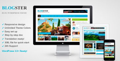 قالب Blogster - قالب وردپرس وبلاگی