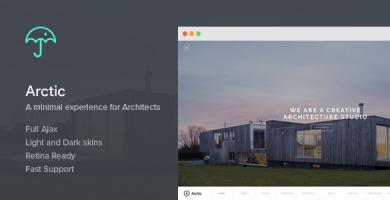 Arctic - قالب وردپرس معماری و معماران