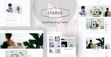قالب Icarus - قالب وردپرس وبلاگ شخصی