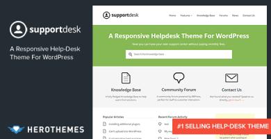 قالب SupportDesk - قالب وردپرس راهنما و پایگاه دانش