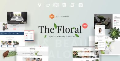 قالب Floral - قالب وردپرس سالن ماساژ و سالن زیبایی