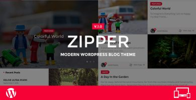 Zipper - قالب وبلاگ وردپرس مدرن