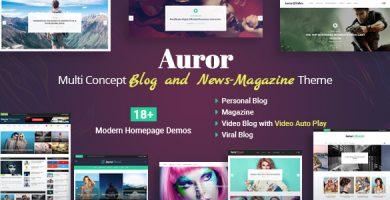 Auror - پوسته وردپرس بلاگ و مجله