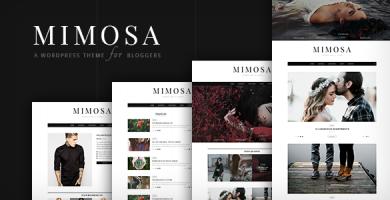 قالب Mimosa - قالب وردپرس برای وبلاگ نویسان