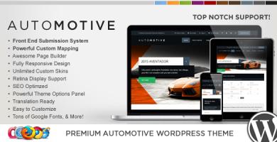 WP Pro Automotive 2 - قالب وردپرس ریسپانسیو