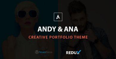 Andy & Ana - قالب نمونه کار خلاقانه وردپرس
