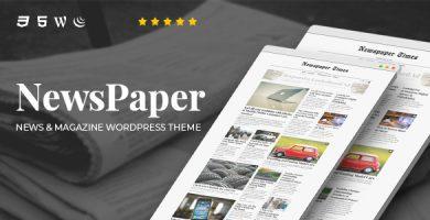 قالب NewsPaper - قالب وردپرس خبری و مجله