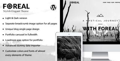 قالب Foreal - قالب وردپرس سیاه و سفید