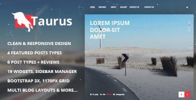 قالب Taurus - قالب وردپرس خبری، مجله ای و وبلاگی