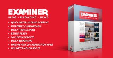 قالب Examiner - قالب مجله وردپرس