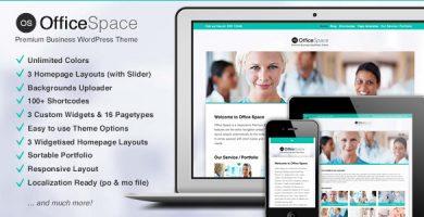 قالب Office Space - قالب وردپرس کسب و کار ریسپانسیو