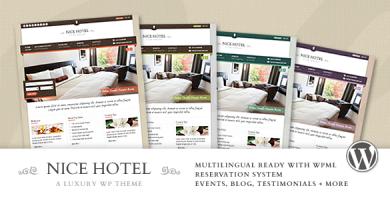 قالب Nice Hotel - قالب وردپرس