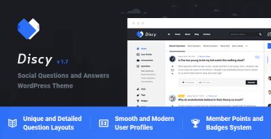 قالب دیسکی | Discy - قالب وردپرس پرسش و پاسخ اجتماعی