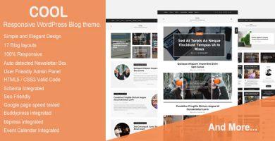 قالب Cool - قالب وبلاگ وردپرس ریسپانسیو