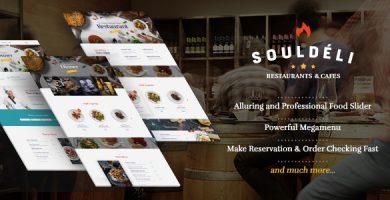 قالب Souldeli - قالب وردپرس رستوران و کافی شاپ