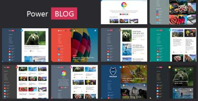 قالب PowerBlog - پوسته وردپرس بلاگ ایجکس