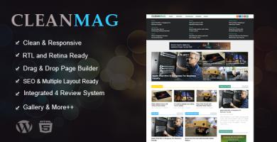 قالب Cleanmag - قالب وردپرس مجله چند منظوره