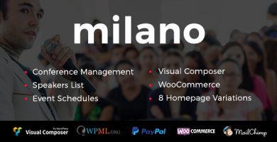 قالب Event/Conference Milano - پوسته وردپرس رویداد و کنفرانس