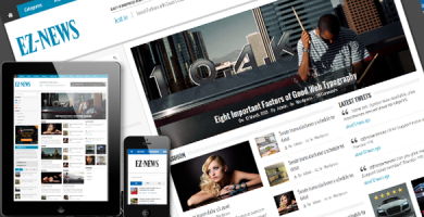 قالب EZ-News - قالب وردپرس